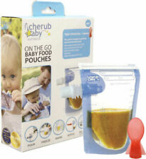 Cherub Baby CHFP003 Food Pouch with Spoon  - 10 Pack
