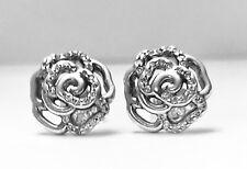 Authentic Pandora SHIMMERING ROSE Earrings W/ Pandora TAG & HINGED BOX #290575CZ