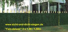 TANNE -FICHTE + BLÄTTER / SICHTSCHUTZ /BALKONVERKLEIDUNG /KUNSTHECKE  3 x 1,00 m