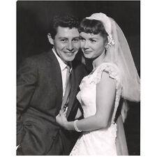 Debbie Reynolds at Wedding with then Husband Eddie Fisher 8 x 10 Inch Photo
