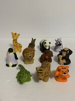 Fisher Price Little People Zoo Animals Penguin Lion Giraffe Lot of 11 Figures