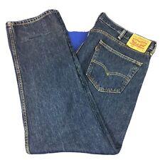 Levis Mens 505 40x32 Regular Fit Straight Blue Jeans Classic