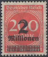 Deutsches Reich 1923 con sovrastampa 2 Millionen Mark nuovo*