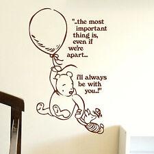 Whinnie The Pooh citas Pared Adhesivo Niños de gráficos de transferencia de inicio! para Niños Calcomanía