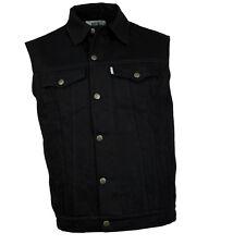 Western Speicher Jeansweste  schwarz Weste Kutte Baumwolle S bis 4XL