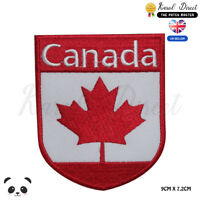 Canada National Flag With Name on TOP Embroidered Iron On Sew On Patch Badge
