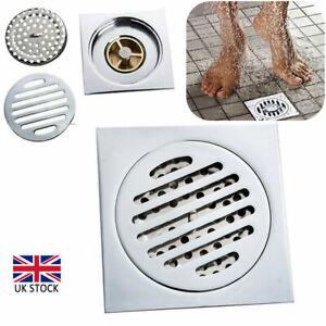 Brass Floor Drain Square Shower Wet Room Bathroom Waste Trap Plumbing Durable