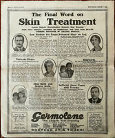 Germolene The Final Word in Skin Treatment, Soothes At A Touch Vintage Ad 1922