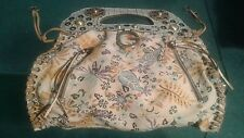 GUESS LARGE CANVAS FLORAL TOTE