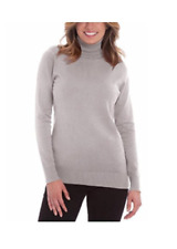 NWOT Joseph A Women's Long Sleeve Turtle Neck - GREY  - MEDIUM