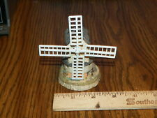 "1985 John Hine Ltd. ""Windmill By David Winter"" Hand Made In Great Britain"
