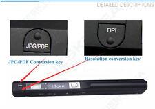 Palmare Scanner HD iScan 900DPI A4 Libro Foto Immagine+TF 8GB+Custodia Rigida