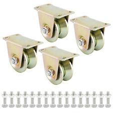 4 Pcs 2 Sliding Gate Roller Steel Wheelv Groove Caster Wheel V Groove Wheels