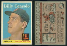 (47578) 1958 Topps 148 Billy Consolo Red Sox-EM