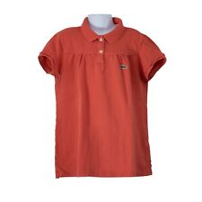 Youth Girls Lacoste Salmon Pink Short Sleeve Polo Shirt Top Size 16