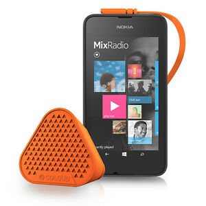 NOKIA MD-1C COLOUD UNIVERSAL TRAVEL MINI WIRED SPEAKER ORANGE FOR APPLE SAMSUNG