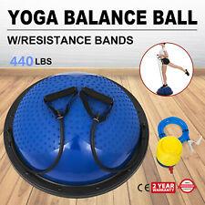 23 inch Yoga Half Ball Balance Trainer Fitness Flexibility Strength Exercise