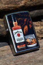 Zippo Lighter - Jim Beam Bottle with Glass - Since 1795 - Kentucky Bourbon