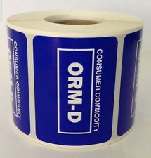 1 Roll Other Regulated Material 2x1.5 Consumer Commodity Orm-D 500 Labels