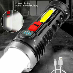 Super Bright 100000LM LED Torch Tactical Flashlight Lantern Rechargeable+Battery