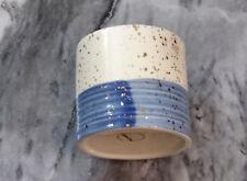 Ceramics Succulent Cactus Plant White and Blue Gold Dot Glossy Glaze  Pot