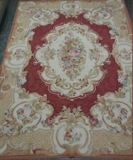 Magnificent Juliette Handmade Cross-Stitched Wool Needle Point rug 6x9