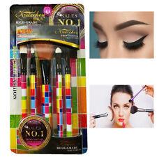 Set 5 Pennelli Per Make Up Trucco Donna Cosmetici Ombretto Spazzolino Viso 977