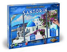 Schipper 609260783 Malen nach Zahlen Triptychon Santorin