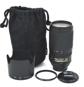 Nikon ED AF-S NIKKOR 70-300mm 1:4.5-5.6 G VR, HB-36 Hood, MARUMI 67mm DHG Filter