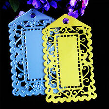 Luggage Tag Cutting Dies Stencil Scrapbook Album Paper Card Embossing Craft