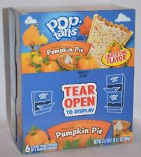 12 POP-TARTS FROSTED PUMPKIN PIE TOASTER PASTRIES LIMITED TEAR OPEN TO DISPLAY