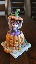 Enesco My Little Kitchen Fairies Jack O'Lantern Fairie 2007 Halloween Pumpkin