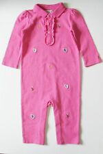 Ralph Lauren Baby Girls Floral Coverall Bermuda Pink Sz 3M - NWT