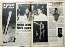 ZIZI JEANMAIRE => COUPURE DE PRESSE italienne 2 Pages 1977_ ITALIAN CLIPPING