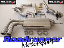 "Milltek Golf GTI MK5 Exhaust System Turbo Back 2.75"" Resonated & De Cat Downpipe"