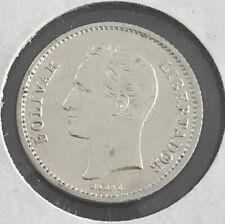 Venezuela 1929 1/4 Bolivar silver Very Nice Condition LJ