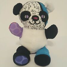 Romero Britto Pop Plush Toy Art Enesco Jackson Panda Teddy Bear Stuffed 4024566