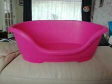 Quality Heavy Duty Pink Plastic Dog Puppy Bed 40cm