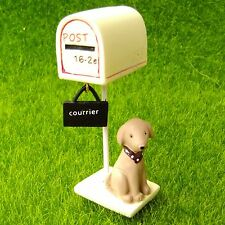 Mail Box Dog Lifelike Fairy Garden Terrarium Dollhouse Shelf Decor Figurine Toy