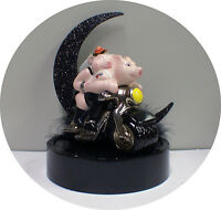 Harley and Hanna Hog Bike Motorcycle wedding Cake topper Ride groom top Sexy pig