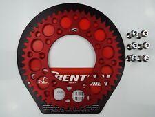 Honda CR125 CR250 CR500 Rojo Renthal Piñón Trasero con Pernos Aleación 52