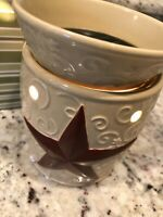 Scentsy Full Size Electric Rustic Star Tart Wax Warmer Americana Retired Country