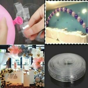 5m Balloon Chain Arch String Garland Strip Tape 1/2 holes Birthday Party Decor