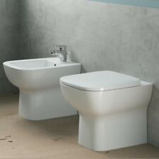 Sanitari filo muro con scarico traslato Ideal Standard Esedra Wc + bidet + sedil