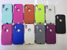 10pcs/lot Commuter Hybrid TPU+PC 2 in 1 Shockproof Hard Back Case for iPhone X