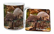 Hedgehogs 'Soulmates' Sentiment Mug+Coaster Christmas/Birthday Gift I, SOUL-70MC