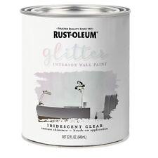 Rust-Oleum Brush-On Glitter Paint Iridescent Clear Quart Size -- 323860