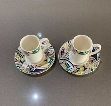 Denby monsoon cosmic espresso cup and saucer x2