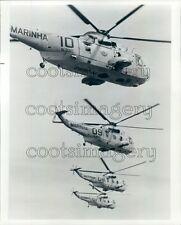 1970 Brazil Navy Marinha Helicopters Press Photo