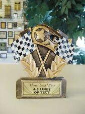 THREE DIMENSIONAL RACING TROPHY CAR SHOW RESIN AWARD FREE LETTERING MRF800